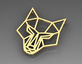 3D print model Fox geometric pendant