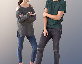 3D model Lisa and Clark 10730 - Talking Teenagers
