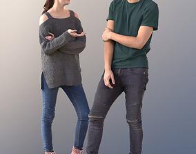 3D model Lisa and Clark 10730 - Talking Teenagers