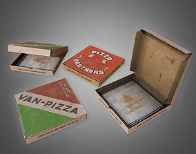 Pizza Box Set - PBR Game Set 3D model VR / AR ready