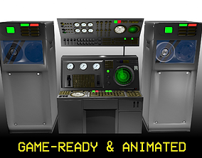Game-Ready 1950s Mainframe Computer System 3D model