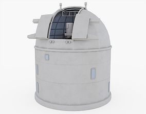 3D asset Optical Ground Station Telescope - Inside and
