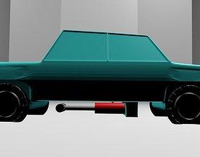 3D model animated Flying Car