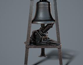 Ship Bell in Tower 3D asset