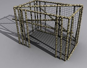 3D model cage low poly
