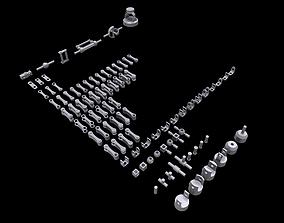 Modular Mechanical Joints Kitbach 3D model