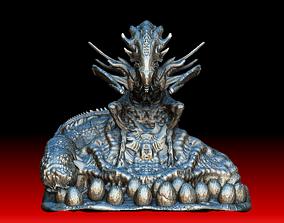 3D Alien queen mother with egg sack