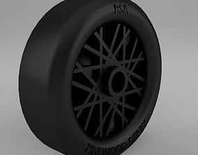 3D asset animated Pinewood Derby Wheel