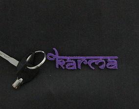 3D print model KARMA KeyChain