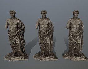 3D model game-ready statue 5 cesare