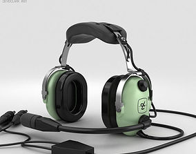 David Clark Standard Aviation Headsets headset 3D