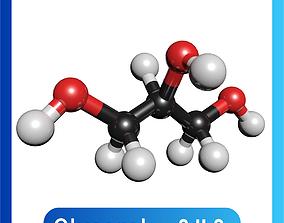 Glycerin 3D Model C3H8O3
