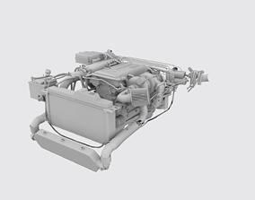 3D asset Nissan SR20DET Engine Model