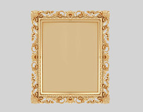 Luxury 3D classic mirror frame royal nobility for