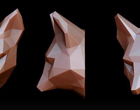 Fox head pendant 3D printable model fox