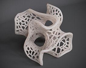 Gyroid Voronoi Lattice 3D print model
