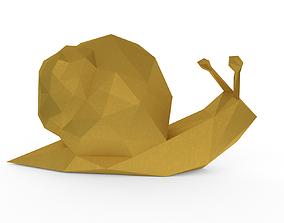 Snail low poly 3D asset