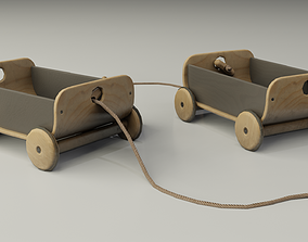 3D model game-ready Children Toy Wagon