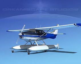 Cessna 182 Skylane Seaplane V07 3D model