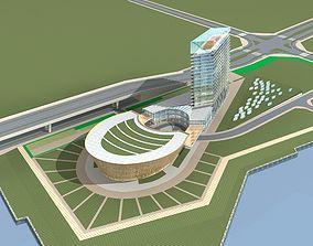 city-block flat Office Building 3D