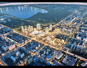 3D nightscape city