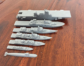 Modern Chinese Navy Ships - 3D print model