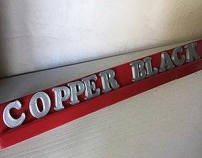 Test COPPER BLACK font 3d letters free download