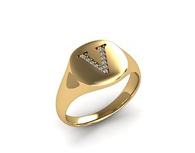 3D printable model jewelry Jewelry Signature Ring