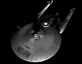 3D model USS Warrior Star Trek Like Spaceship