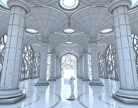 3D model Futuristic Interior 601