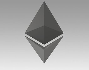 Ethereum Crypto Currency 3D asset