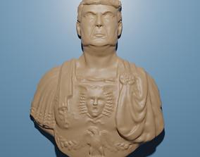 God Emperor Donald Trump 3D STL Model for CNC Router
