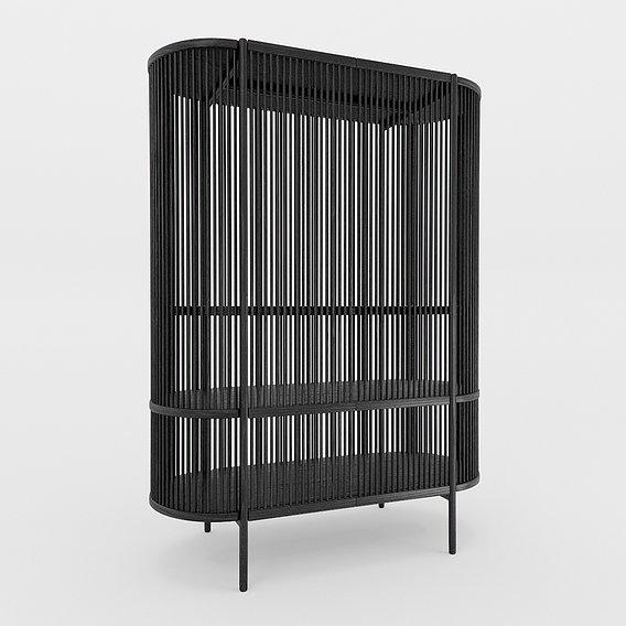 Bastone Cabinet  Black with Doors