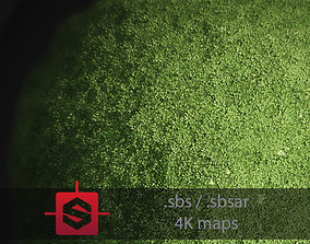 3D model Moss PBR Tileable Material nature