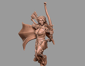 Huntress 3D print model - 35 mm scale