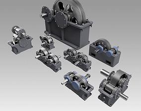 Gearbox set 3D