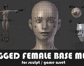 Fully Rigged Base Mesh with Face Rig for Blender 3D model