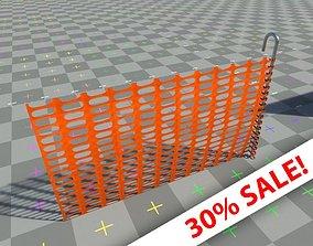 3D model Road segregation Net barrier - with