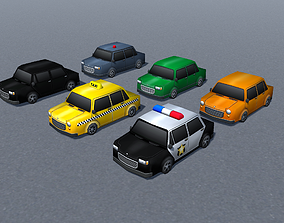 Cars Model Pack low-poly gons toon style 3D asset