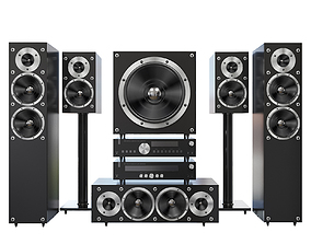 Acoustic system speakers 3D model