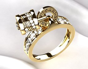 Bvlgari Golden Ring 3D printable model