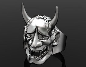 3D printable model oni mask hannya
