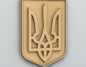 Lesser coat of arms of Ukraine 3D print model