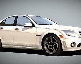 low-poly Mercedes Benz C63 AMG 3D Model