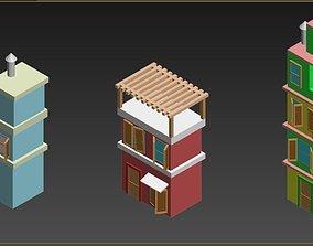 3D model Buildings set for simple games