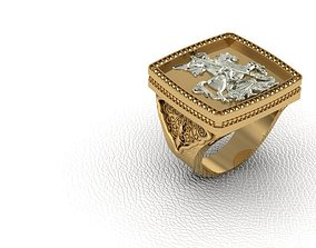 3D print model Ring 42 man George