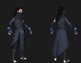 Chinese Male Character Warrior Killer Thieves 3D asset 2