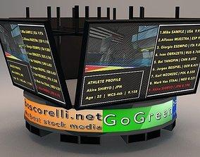 Jumbotron Bigscreen Lowpoly 3D asset