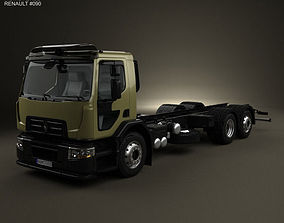 3D Renault D Wide Chassis Truck 2013