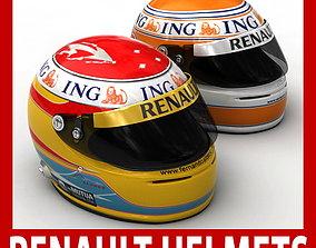 3D model Helmet F1 2009 Fernando Alonso and Nelson Piquet